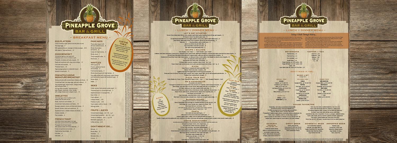 dine in menus